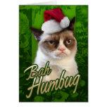 Gato gruñón del embaucamiento de Bah Tarjetón
