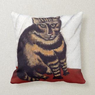 Gato gruñón del vintage cojín decorativo
