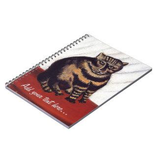 Gato gruñón del vintage cuaderno