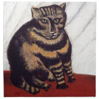 Gato gruñón del vintage servilletas de papel