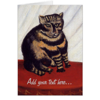 Gato gruñón del vintage tarjeta de felicitación