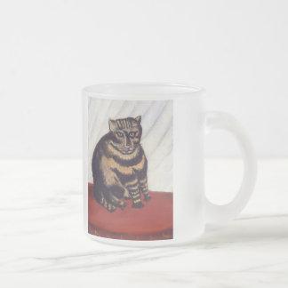 Gato gruñón del vintage tazas
