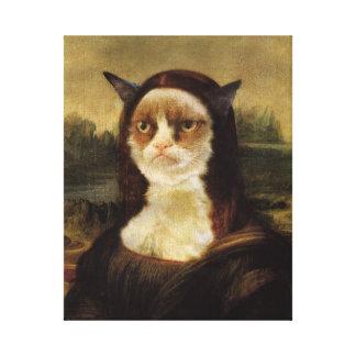 Gato gruñón lona estirada galerias