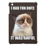 Gato gruñón - me divertía una vez iPad mini cárcasa