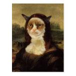 Gato gruñón postal