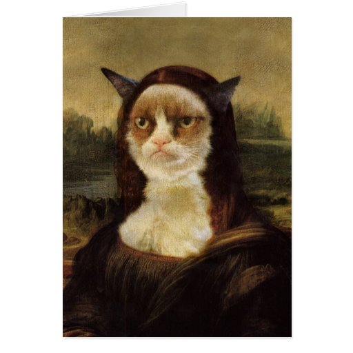 Gato gruñón tarjeta