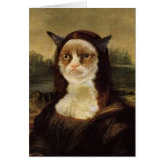 Gato gruñón tarjeta de felicitación