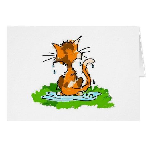 Gato gruñón tarjetas