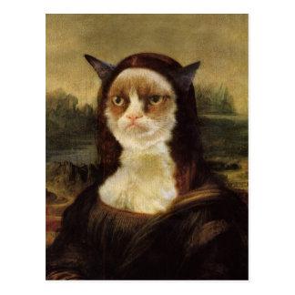 Gato gruñón tarjetas postales