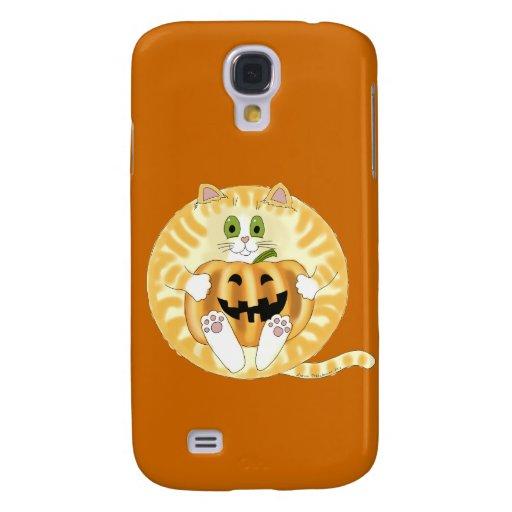 Gato Halloween de la chuchería Funda Para Galaxy S4