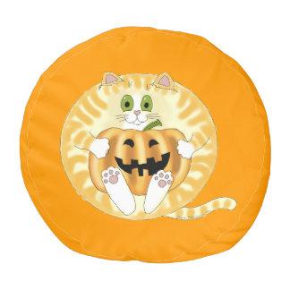 Gato Halloween de la chuchería Puf Redondo