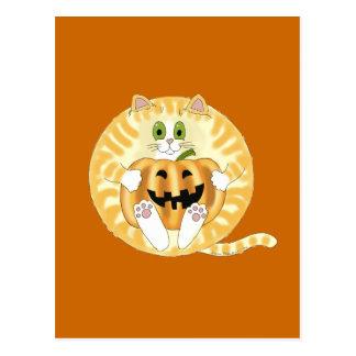 Gato Halloween de la chuchería Tarjeta Postal