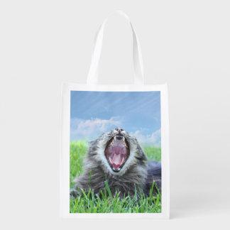 Gato hambriento del gatito bolsa de la compra