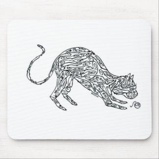 Gato hecho de ratones alfombrillas de raton