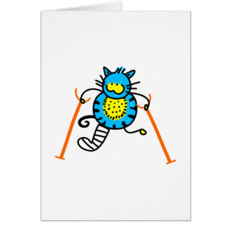 Gato herido tarjeta de felicitación