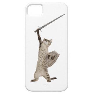 Gato heroico del caballero del guerrero iPhone 5 carcasas