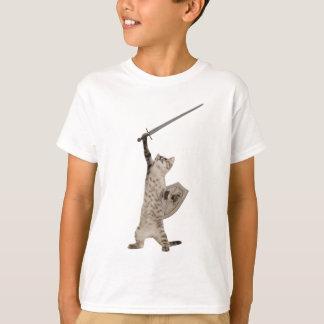 Gato heroico del caballero del guerrero playera