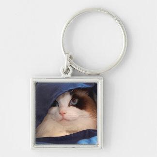 Gato humano 2 de la sociedad llavero personalizado