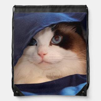 Gato humano 2 de la sociedad mochila
