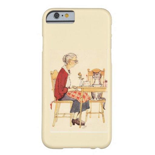 Gato impresionante y mujer del vintage que se funda barely there iPhone 6