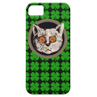 gato irlandés - trébol de la hoja iPhone 5 funda
