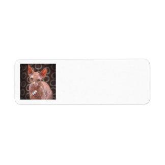 Gato Jack de la esfinge de Sphynx Etiquetas De Remite