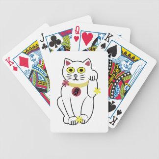 Gato japonés baraja cartas de poker