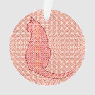 Gato japonés - batik anaranjado coralino