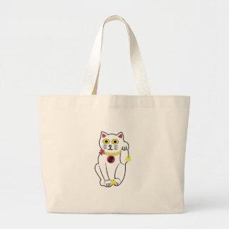 Gato japonés bolsa tela grande