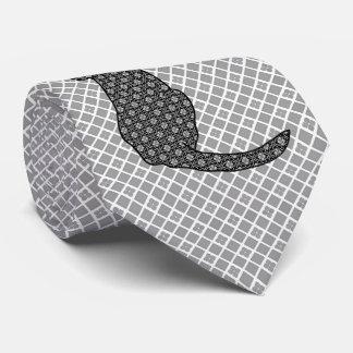 Gato japonés - impresión blanco y negro del kimono corbata personalizada