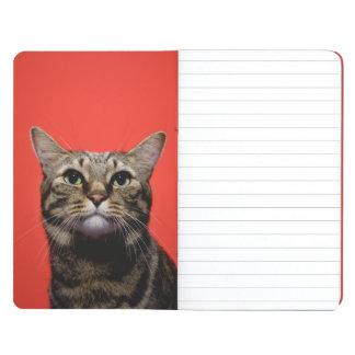 Gato japonés que mira para arriba cuadernos grapados
