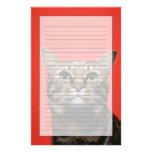 Gato japonés que mira para arriba papelería personalizada