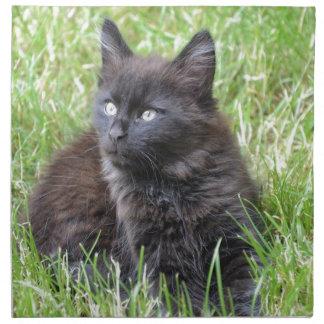 gato - jardín servilleta imprimida