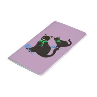 Gato juguetón cuadernos grapados