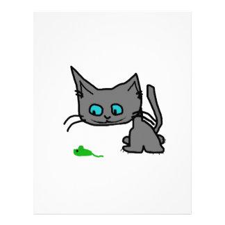 Gato juguetón del gatito membrete