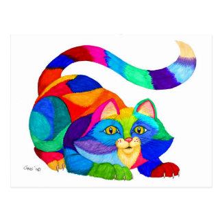 Gato juguetón postal