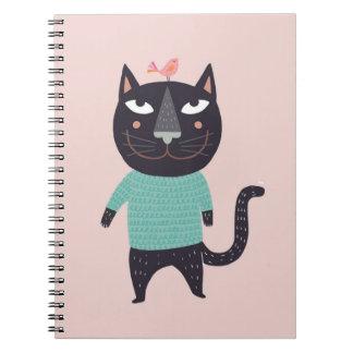 Gato Kasimir Spiral Notebooks