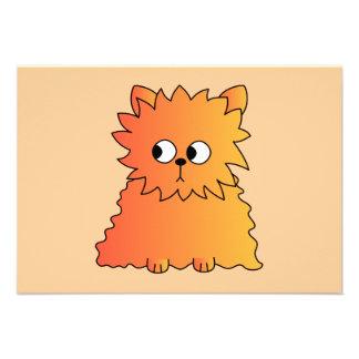 Gato largo anaranjado lindo del pelo anuncio personalizado