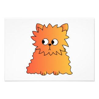 Gato largo anaranjado lindo del pelo invitaciones personales