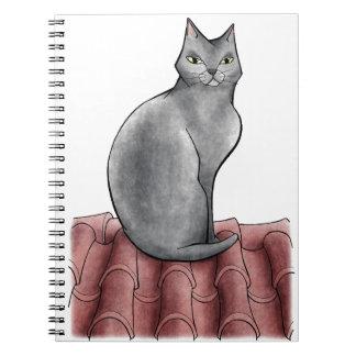 gato libros de apuntes con espiral