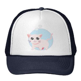 Gato lindo 4 del gatito de Chibi Gorras De Camionero