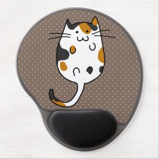 Gato lindo alfombrillas de ratón con gel