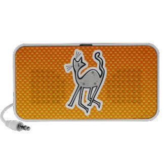 Gato lindo Amarillo-naranja Portátil Altavoces