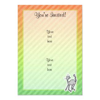 Gato lindo; Colorido Invitación 12,7 X 17,8 Cm