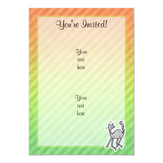 """Gato lindo; Colorido Invitación 5"""" X 7"""""""