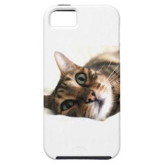 Gato lindo de Bengala en imagen de la cama Funda Para iPhone SE/5/5s