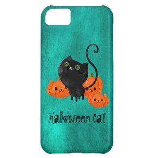 Gato lindo de Halloween con las calabazas Funda Para iPhone 5C
