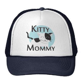 Gato lindo de la mamá del gatito gorra