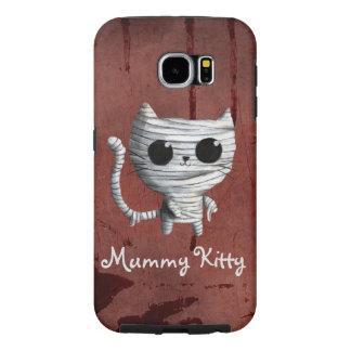 Gato lindo de la momia de Halloween Funda Samsung Galaxy S6