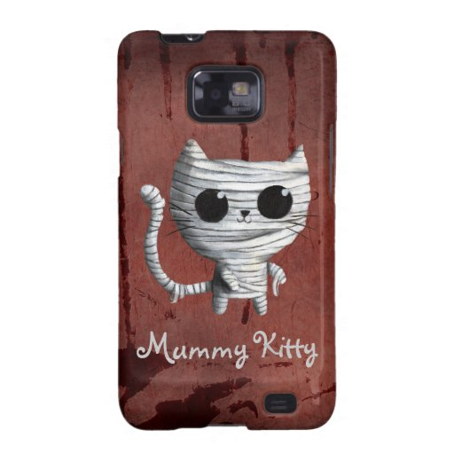 Gato lindo de la momia de Halloween Samsung Galaxy S2 Funda